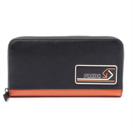 プラダ サフィアーノ 2ML317 レザー ラウンドジップウォレット ブラック